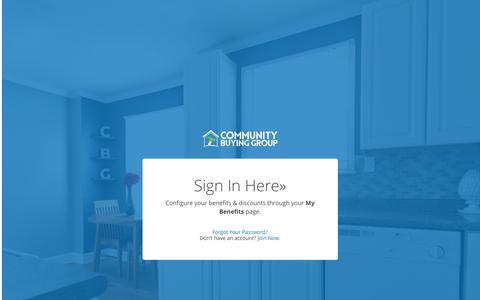 Screenshot of Login Page communitybuyinggroup.com - Sign In - Community Buying GroupCommunity Buying Group - captured Nov. 28, 2016