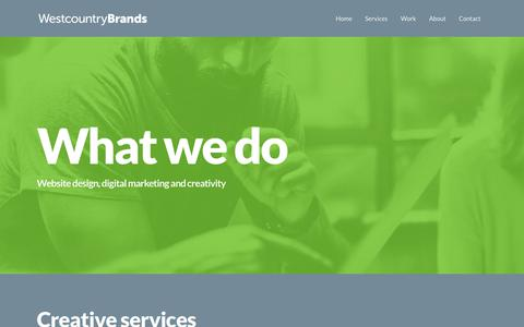 Screenshot of Services Page westcountrybrands.co.uk - Creative Services - Westcountry Brands - captured Oct. 20, 2018