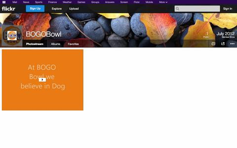 Screenshot of Flickr Page flickr.com - Flickr: BOGOBowl's Photostream - captured Oct. 25, 2014