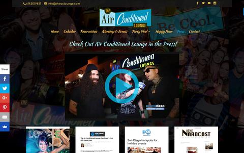 Screenshot of Press Page airconditionedlounge.com - Press | Air Conditioned Lounge - captured Oct. 18, 2018