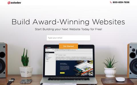 Screenshot of Trial Page solodev.com - Build Award Winning Websites - captured Oct. 7, 2016