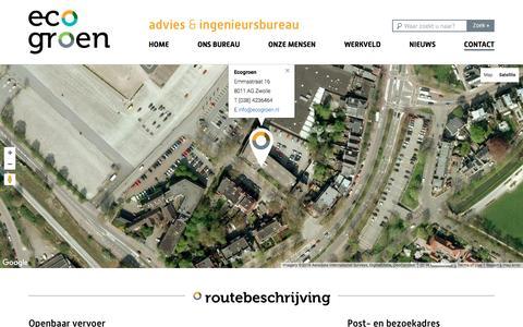 Screenshot of Contact Page ecogroen.nl - Contact - Ecogroen - captured Jan. 25, 2016