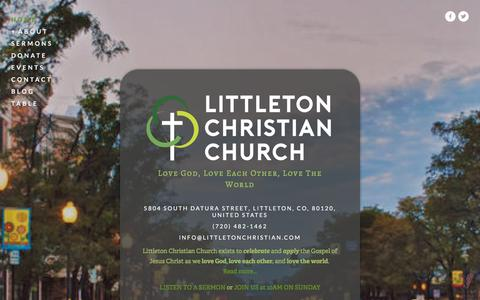 Screenshot of Home Page littletonchristian.com - Littleton Christian Church - captured Jan. 30, 2016