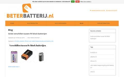 Screenshot of Blog beterbatterij.nl - Blog - Beterbatterij - captured July 29, 2016