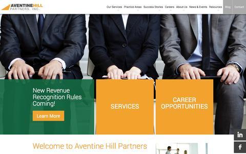 Screenshot of Home Page aventinehillinc.com - Homepage | Aventine Hill Partners - captured Dec. 12, 2015