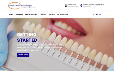 Screenshot of Home Page gdtlab.com - Global Dental Technologies | Global Dental Technologies - captured Aug. 7, 2017