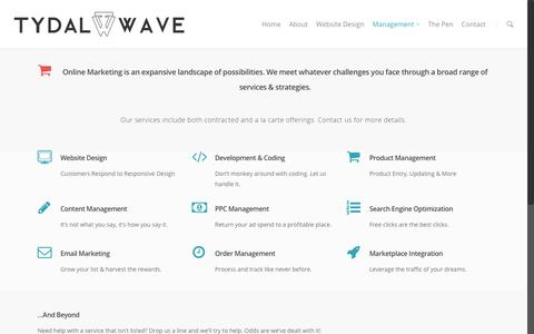 Screenshot of Team Page tydalwavecreative.com - E-Commerce Management | Tydal Wave Creative - captured Feb. 10, 2016