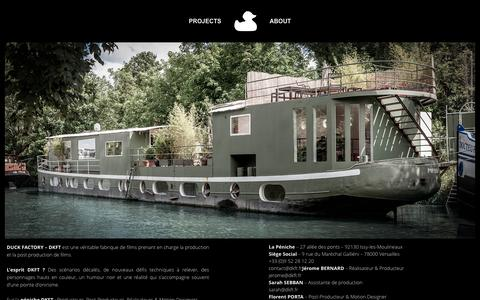 Screenshot of About Page dkft.fr - About - Duck Factory - captured Feb. 9, 2016