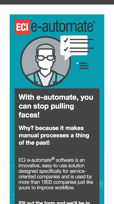 With e-automate, you can stop pulling faces!