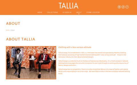 Screenshot of About Page talliaorange.com - About  |  Tallia Orange - captured Sept. 20, 2018