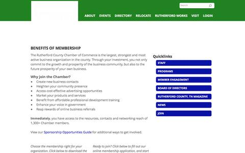 Screenshot of Signup Page rutherfordchamber.org - Join - Rutherford County Chamber of Commerce | Murfreesboro, TN 37129 - captured Dec. 1, 2016