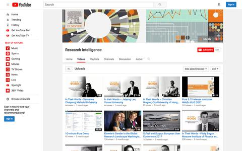 Research Intelligence  - YouTube