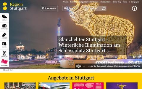 Screenshot of Home Page stuttgart-tourist.de - Stuttgart Tourist - Hotels, Stadtführungen, Tickets, Übernachtungen, Apartments, Pauschalangebote in Stuttgart und der Region Stuttgart - captured Dec. 14, 2018
