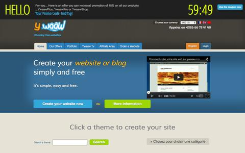 Screenshot of Home Page ywaaw.com - Website creation | Ywaaw - captured Sept. 25, 2014