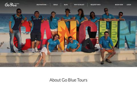 Screenshot of About Page gobluetours.com - About Go Blue - captured Dec. 8, 2018