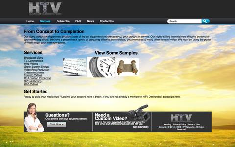 Screenshot of Services Page htvdashboard.com - Manage Videos - captured May 20, 2016