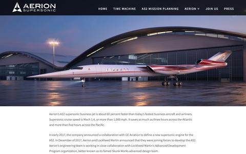 Screenshot of About Page aerionsupersonic.com - About - Aerion Supersonic - captured Oct. 3, 2018