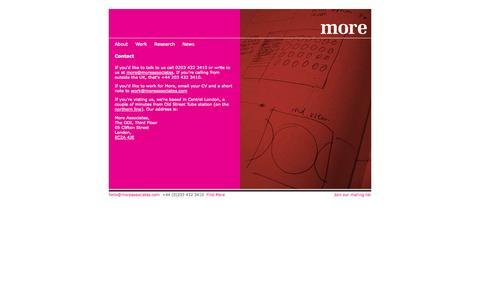 Screenshot of Contact Page moreassociates.com - Contact - More Associates - captured Oct. 7, 2014