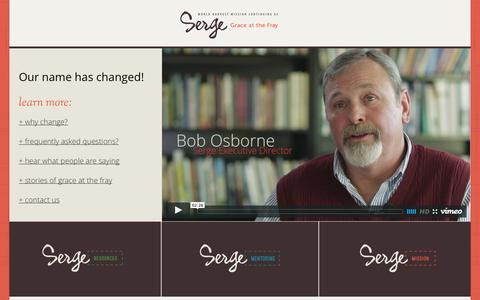 Screenshot of Home Page serge.org - Serge.org | World Harvest Mission - captured Sept. 30, 2014