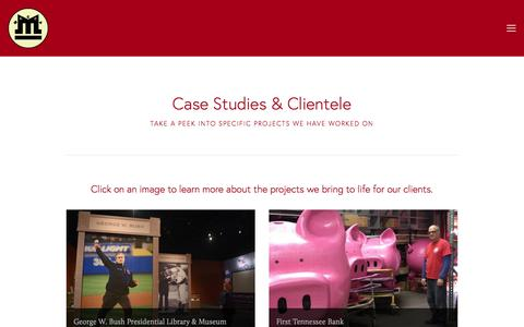 Screenshot of Case Studies Page meccadesign.com - Case Studies — Mecca Design & Production - captured Oct. 18, 2017
