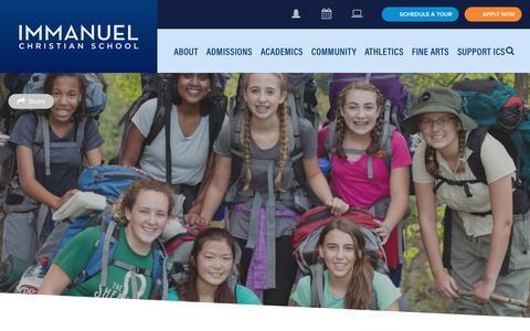Screenshot of Blog icsva.org - Blog - Immanuel Christian SchoolImmanuel Christian School - captured Oct. 11, 2018