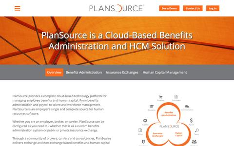 Screenshot of Products Page plansource.com - Products | PlanSource - captured July 4, 2016