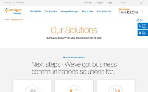 Business Communication Solutions | Vonage Business