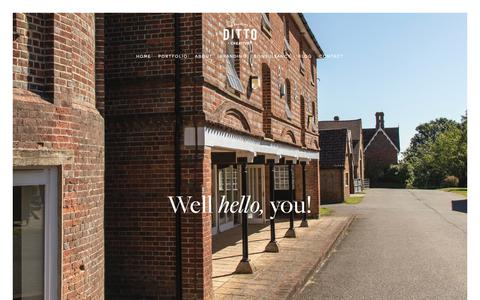 Screenshot of Contact Page ditto.uk.com - Contact | Ditto Creative | branding agency in Kent — Ditto Creative | boutique branding agency Kent | Specialising in branding for small businesses - captured Oct. 9, 2018