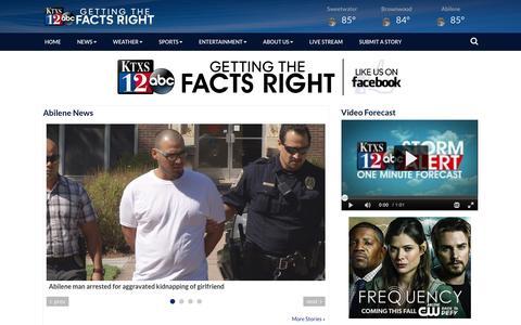 Screenshot of Press Page ktxs.com - News - KTXS - captured Aug. 24, 2016