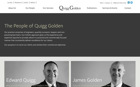 Screenshot of Team Page quigggolden.com - Quigg Golden - The People of Quigg Golden - captured July 25, 2018