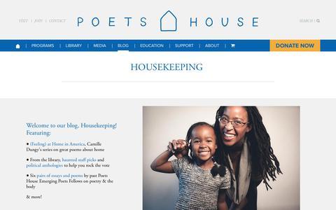 Screenshot of Blog poetshouse.org - Housekeeping: The Poets House Blog - Poets House - captured Nov. 5, 2018