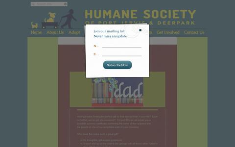 Screenshot of Home Page pjhumane.org - Sponsor a Pet for Father's Day - captured June 20, 2016
