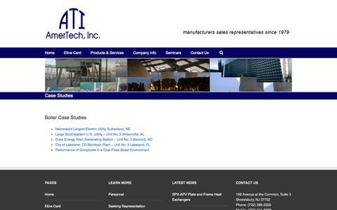 Screenshot of Case Studies Page amertechinc.com - Amertech, Inc. – Case Studies - captured Oct. 29, 2014