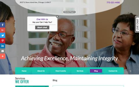 Screenshot of Blog comfortcarehha.com - Comfort Care Home Health Care - Home Nursing & Therapy in Chicago, IL - captured Nov. 10, 2016