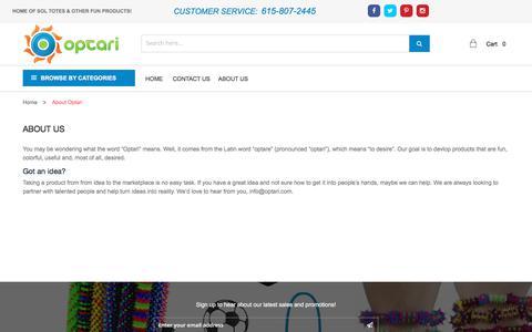 Screenshot of About Page optari.com - About Optari - captured Oct. 21, 2017