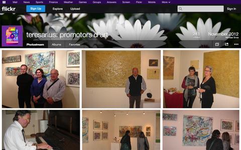 Screenshot of Flickr Page flickr.com - Flickr: teresarius: promotors d'art's Photostream - captured Oct. 26, 2014