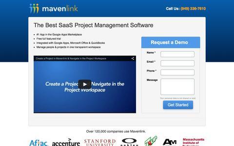 Screenshot of Landing Page mavenlink.com - SaaS Project Management Software | Mavenlink - captured Dec. 16, 2015