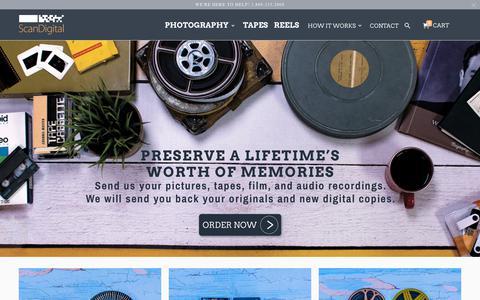 Screenshot of Home Page scandigital.com - Photo Scanning Services: Pictures, Slides, Negatives to Digital - Scan - captured Nov. 4, 2018