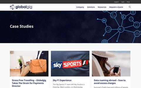 Screenshot of Case Studies Page globalgig.com - Case Studies | Business Communication | Globalgig - captured July 7, 2018