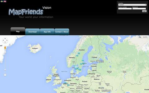 Screenshot of Home Page Maps & Directions Page mapfriends.se - Map - MapFriends.se - captured Oct. 3, 2014