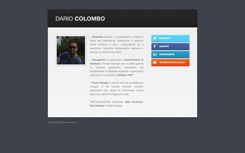 Screenshot of Home Page viaggiareconsapevole.com - Dario Colombo - captured Sept. 30, 2014