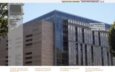 Screenshot of Home Page bsaconsult.com - Arquitectura, Ingenier�a y consultor�a inmobiliaria | BSA consult � Burgos, Madrid, La Rioja, Norte de Espa�a - captured Dec. 28, 2015