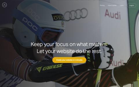 Screenshot of Home Page medali.st - Medalist – Athlete Website Builder - captured Jan. 25, 2015