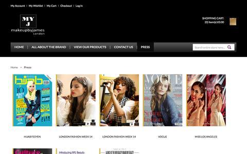 Screenshot of Press Page myjbeauty.com - Press - captured Oct. 4, 2014