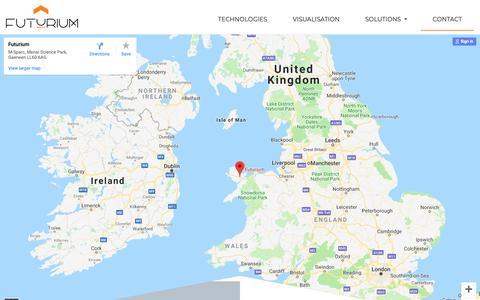 Screenshot of Contact Page futurium.co.uk - Contact - captured Nov. 6, 2018