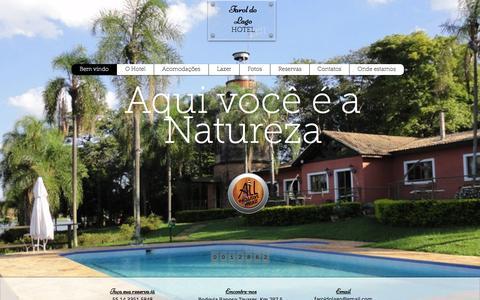 Screenshot of Home Page hotelfaroldolago.com.br - bem vindo, hotel farol do lago - captured Dec. 13, 2015