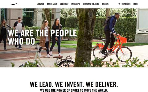 Screenshot of Jobs Page nike.com - Working at NIKE INC - captured Dec. 21, 2017