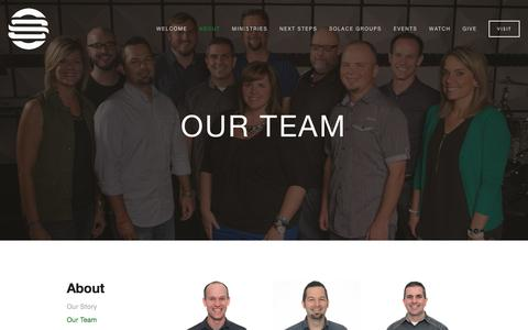 Screenshot of Team Page solacechurch.com - Our Team — Solace Church - captured Aug. 14, 2016