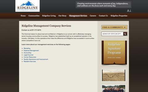 Screenshot of Team Page ridgelinemc.com - Ridgeline Management Company Services - captured Nov. 22, 2016