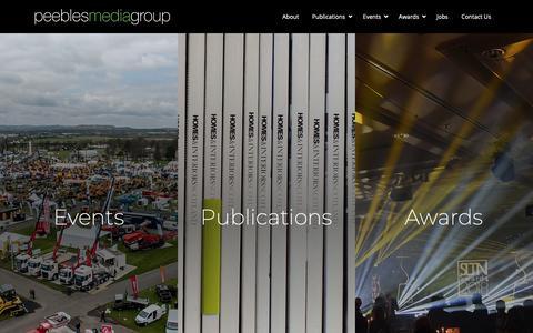 Screenshot of Home Page peeblesmedia.com - Peebles Media Group | Scotland's leading independent publisher - captured Sept. 27, 2018
